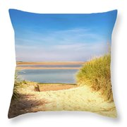 Through The Dunes Over To Budle Bay Throw Pillow
