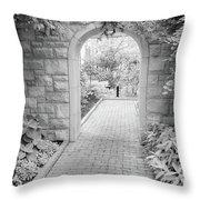 Through The Garden Gate Throw Pillow