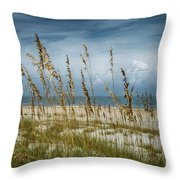 Through The Sea Oats Throw Pillow by Judy Hall-Folde