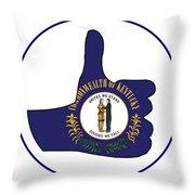 Thumbs Up Kentucky Throw Pillow