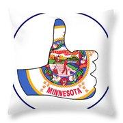 Thumbs Up Minnesota Throw Pillow