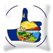 Thumbs Up Montana Throw Pillow