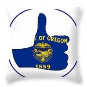 Thumbs Up Oregon Throw Pillow