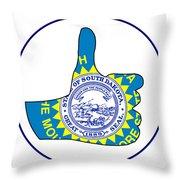 Thumbs Up South Dakota Throw Pillow