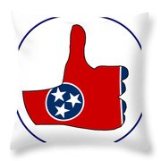 Thumbs Up Tennessee Throw Pillow