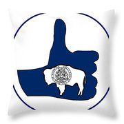 Thumbs Up Wyoming Throw Pillow