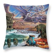 Thundering Gods Throw Pillow