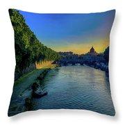 Tiber Evening Throw Pillow