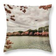 Tidal Basin Blossoms Throw Pillow