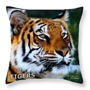 Tigers Mascot 2 Throw Pillow