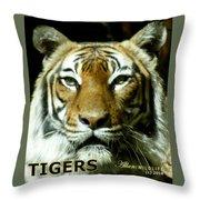 Tigers Mascot 4 Throw Pillow
