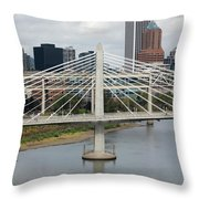 Tilikum Crossing, Portland, Oregon, Usa Throw Pillow