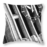 Time Tilts Throw Pillow