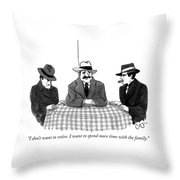Time With The Family Throw Pillow