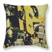 Tin Sign Toys Throw Pillow