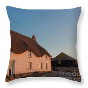 Tinker Taylor Cottage Cornwall Throw Pillow