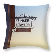 Tinker Taylor Sign Throw Pillow