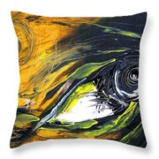Tiny Fish Big Throw Pillow