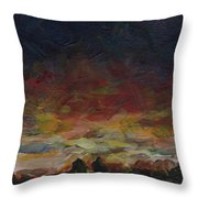Tiny Sunset Throw Pillow