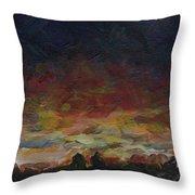Tiny Sunset Throw Pillow