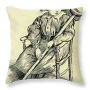 Tiny Tim From A Christmas Carol By Charles Dickens Throw Pillow