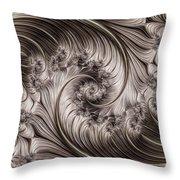 Titanium Double Fractal Spiral Throw Pillow