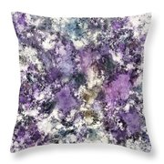 To Quietly Crumble Throw Pillow