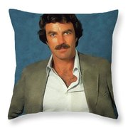 Tom Selleck, Actor Throw Pillow