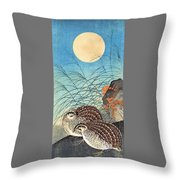 Top Quality Art - Moon And  Quail Throw Pillow