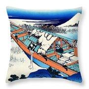 Top Quality Art - Mt,fuji36view-joshu Ushibori Throw Pillow
