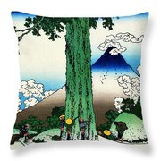 Top Quality Art - Mt,fuji36view-koshu Mishimagoe Throw Pillow