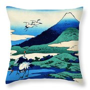 Top Quality Art - Mt,fuji36view-soshu Umezawanosho Throw Pillow