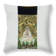 Top Quality Art - White Robed Kannon Throw Pillow