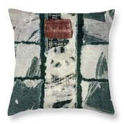 Torn Squares Collage Throw Pillow