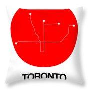 Toronto Red Subway Map Throw Pillow