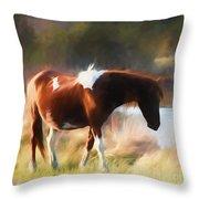 Totem Animal Book Horse Throw Pillow