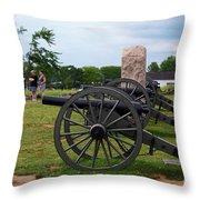 Touring The Gettysburg Battlefield Throw Pillow
