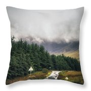 Towards The Fairy Pools Throw Pillow