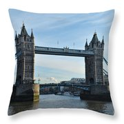 Tower Bridge At Afternoon In London Throw Pillow
