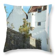 towerhouse and turret at Culross Throw Pillow