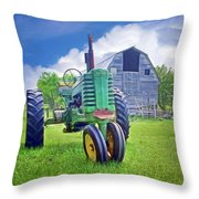 Tractor - On The Farm Throw Pillow