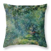 Trail In The Woods Throw Pillow