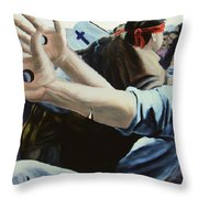 Trails Of The Tribulation  Throw Pillow