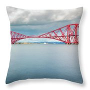 Train Bridge - Forth Of Fifth Throw Pillow