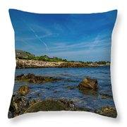 Tranquil Blues Day Kennebunkport Throw Pillow