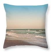 Tranquil Waves Throw Pillow