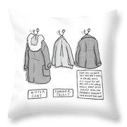Trans-seasonal Coat Throw Pillow