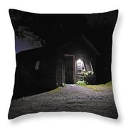 Trapp Family Lodge Cabin Sunrise Stowe Vermont Photo Throw Pillow