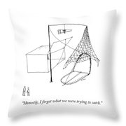 Trapping Throw Pillow