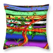 Trashed Throw Pillow